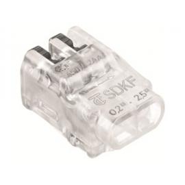 LIGADOR SDKF 2F TRANSP 24A 0.2-2.5mm2 FLEX/SOLIDO