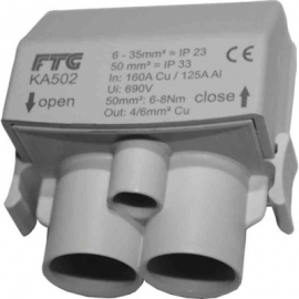 LIGADOR CINZA FASE IP 2x 650mm2 IP33
