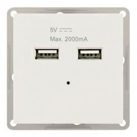 MODULO ENCASTRAR COM 2x USB 5V Max 2000mA