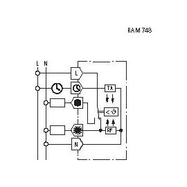 TERMOSTATO AMBIENTE P/ ENCASTRAR 10A RAM 748 RA
