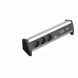 DESK - 3 SCHUKO + 2XCAT5ERJ45 + 1 USB-A