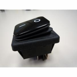 INTERRUPTOR PAINEL PRETO IP65 I/O 16A 250V