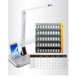 CANDEEIRO MESA 11W LED 530Lm 5050K BR Androi LL-04