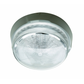 PLAFOND POINT 100W E27 TRANSPARENTE BRANCO
