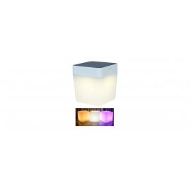 TABLE CUBE SOLAR LED 1W 3000K IP44 RGB