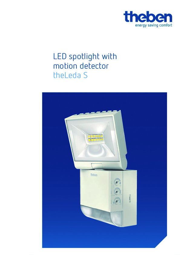 Theben LED spotlight with motion detector theLeda S