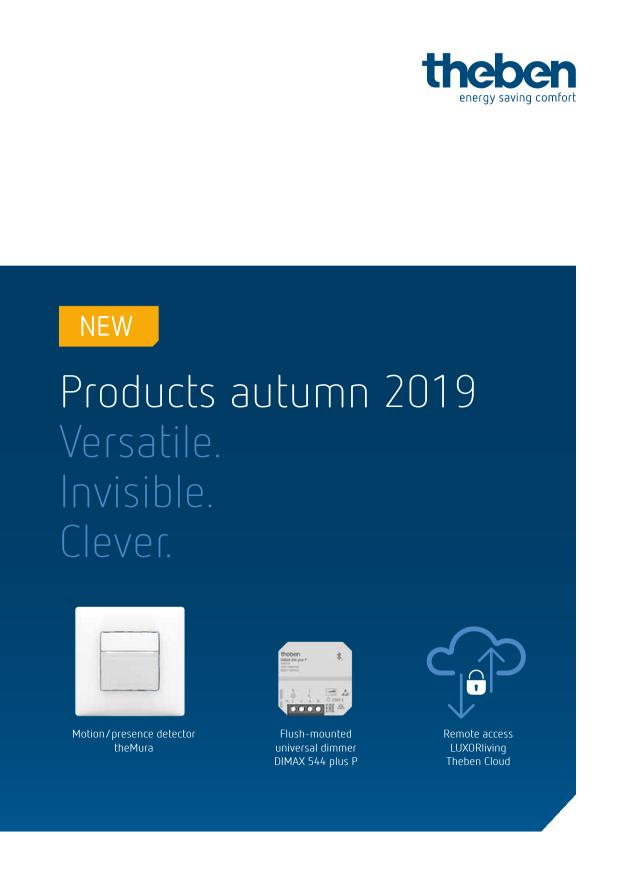 THEBEN Product Autumn 2019