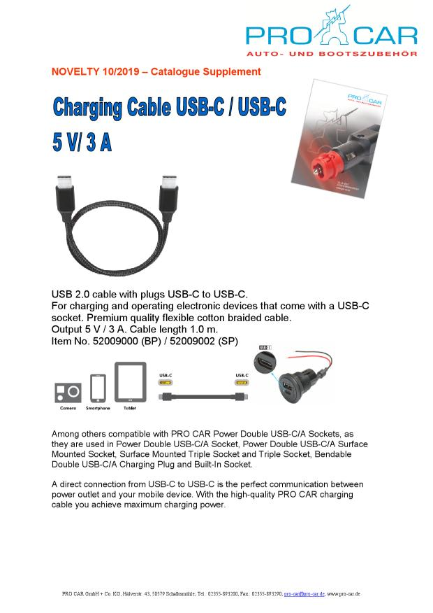 Charging Cable USB-C-USB-C 52009000 NOVELTY 10-19_EN