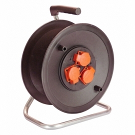 Safety cable reel 285mmØ empty for 40m cable with