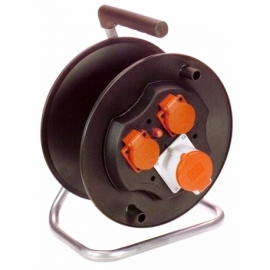 CEE-Safety cable reel 285mmØ empty 1 CEE socket 3P