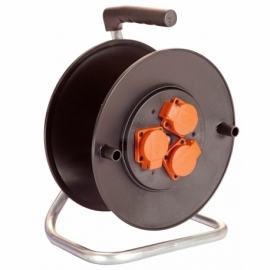 Safety cable reel 320mmØ empty for 50m cable with