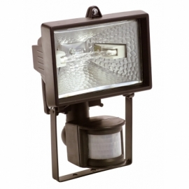 Halogen light with motion detector 150W, black
