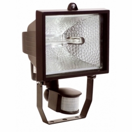 Halogen light with motion detector 500W, black