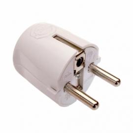 Angled plug 2P+earth white
