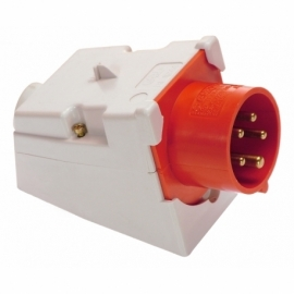CEE-wall mounted inlet 16A, 5-pole, 6h