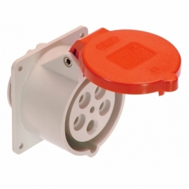 CEE-panel mounted socket 16A, 5-pole, 6h