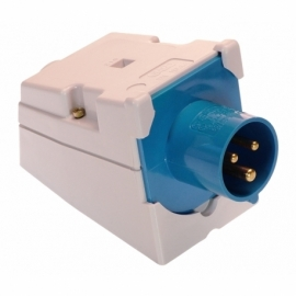 CEE-wall mounting socket inlet 16A, 2PE
