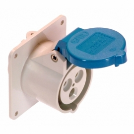 CEE-panel mounting socket outlet 16A, 2PE