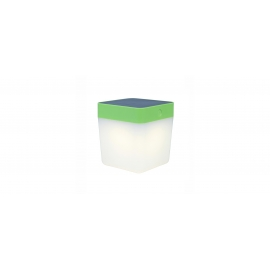 TABLE CUBE SOLAR LED 1W 3000K IP44 VERDE