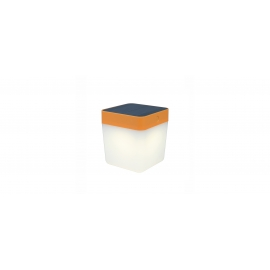TABLE CUBE SOLAR LED 1W 3000K IP44 LARANJA