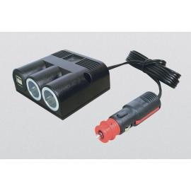 TOMADA TRIPLA SALIENTE C 2x USB 5A + 2m CABO