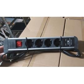 BLOCO SECRETARIA 4x Schuko + 2x USB charger
