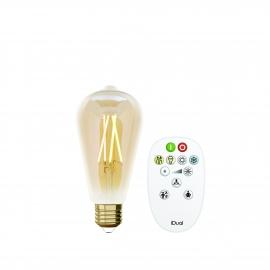 LAMPADA ST64 E27 iDual BRANCOS filament-Amber + RC