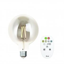 LAMPADA G125 E27 iDual BRANCOS filament-Silver +RC