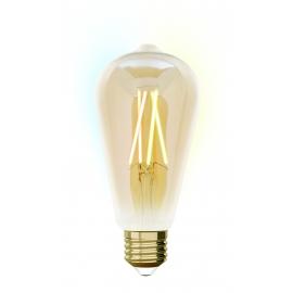 LAMPADA ST64 E27 iDual BRANCOS filament-Amber