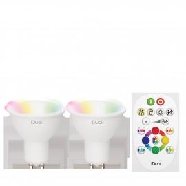 2x LAMPADA GU10 iDual (Gen 2) + RC