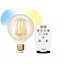 LAMPADA G95 E27 iDual BRANCOS filament-Amber + RC
