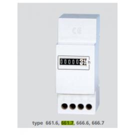CONTA HORAS MECANICO P/CALHA DIN 230V AC (661.7)