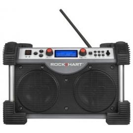 RADIO ROCKHART + 8 PILHAS RECARREGÁVEIS TIPO D