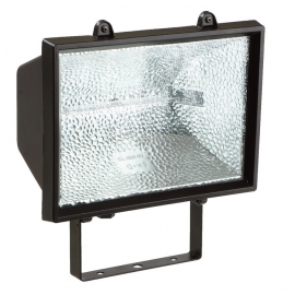PROJECTOR HALOG 120W, PRETO COM LAMPADA IP54