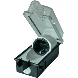 CAIXA ESTANQUE 1x Schuko 185x85x80 mm IP44