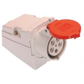 CEE-wall mounted socket 32A, 5-pole, 6h