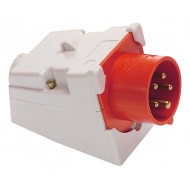 CEE-wall mounted inlet 32A, 5-pole, 6h