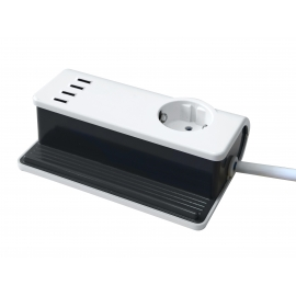 USB 4x PORT CHARGER SOFT TOUCH