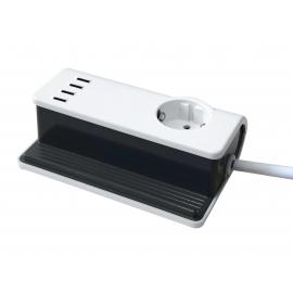 CARREGADOR 4x PORTAS USB SOFT TOUCH 4800mA